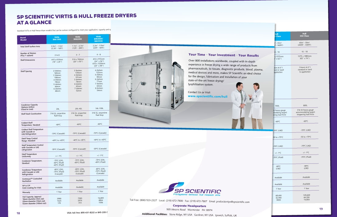 Freeze Dryers brochure
