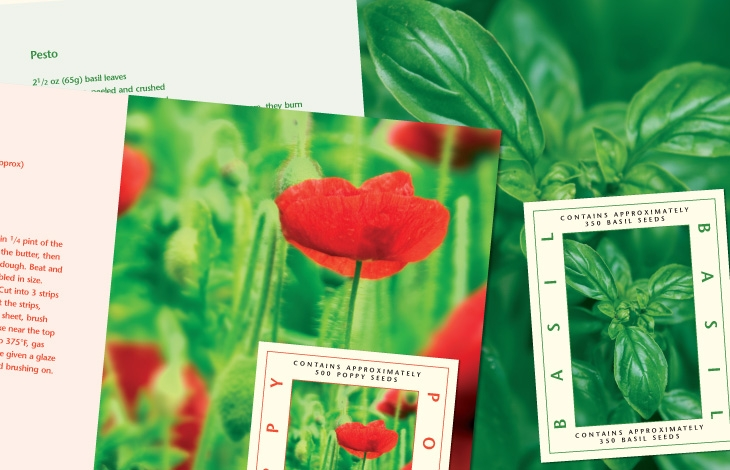 Herb seed cards
